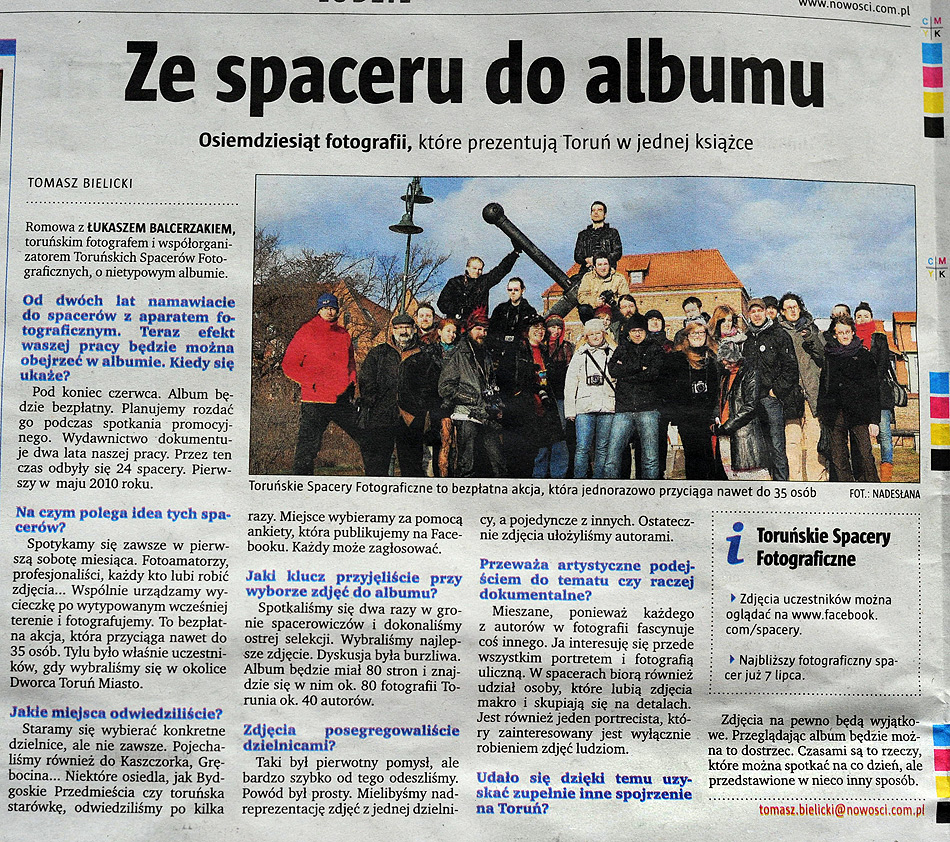 Toruńskie Spacery Fotograficzne - Nowości